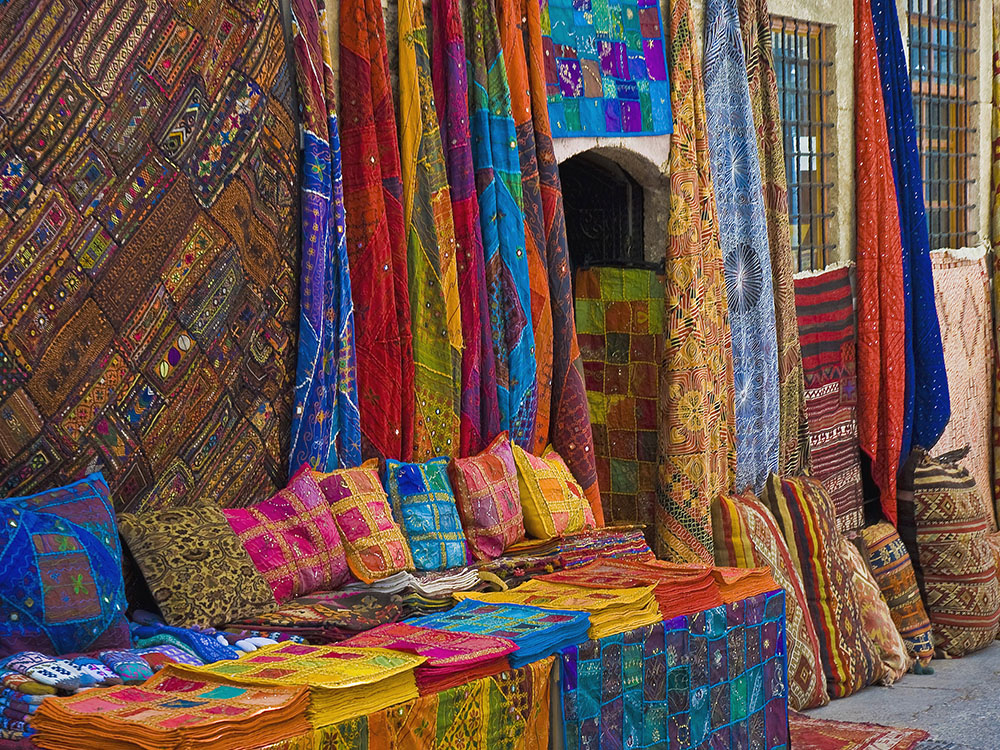 Middle East textile patterns